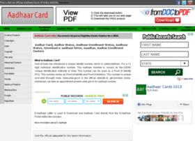 Aadhaarcard2013.in thumbnail