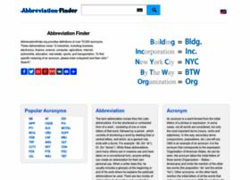 Abbreviationfinder.org thumbnail