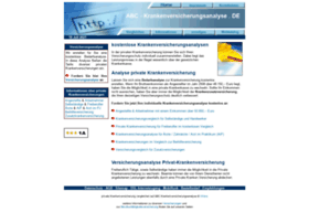 Abc-krankenversicherungsanalyse.de thumbnail