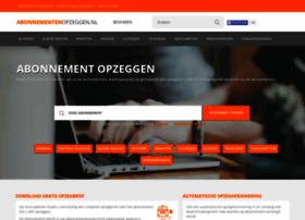 Abonnementenopzeggen.nl thumbnail
