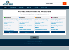Accountingformanagement.org thumbnail