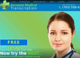 Accuratemedtranscription.com thumbnail