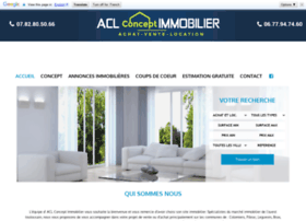 Aclconceptimmobilier.com thumbnail