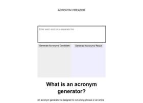 Acronymcreator.net thumbnail