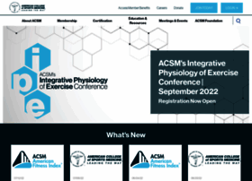 Acsm.org thumbnail