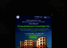 Adamasuniversity.ac.in thumbnail