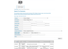 Administrativeappeals.decisions.tribunals.gov.uk thumbnail