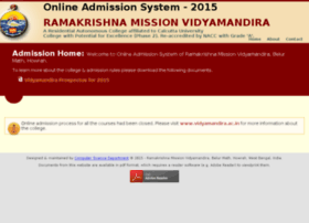 Admissionvidyamandira.in thumbnail