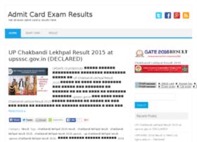 Admitcardexamresults.in thumbnail