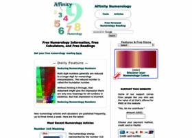 Affinitynumerology.com thumbnail