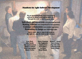Agilemanifesto.org thumbnail