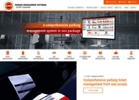 aimsparking com at WI  AIMS Parking Management Software |