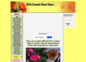 All-my-favourite-flower-names.com thumbnail