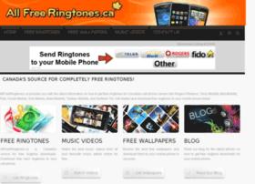 Allfreeringtones.ca thumbnail