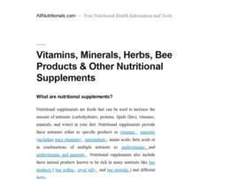 Allnutritionals Com At Wi Allnutritionals Com Free