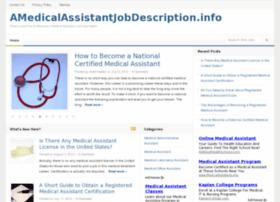 Amedicalassistantjobdescription.info thumbnail