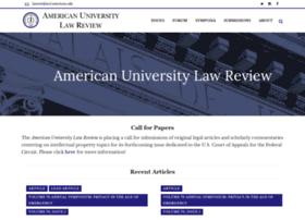 Americanuniversitylawreview.org thumbnail