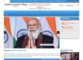 Andhraloyolacollege.ac.in thumbnail