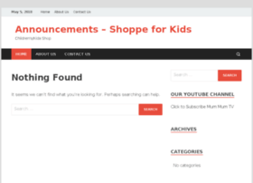 Announcements-shoppe.com thumbnail