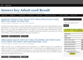 Answerkey-admitcard-result.in thumbnail