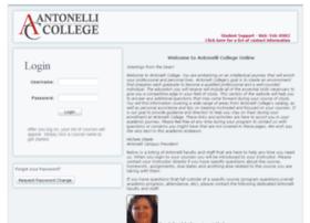 Antonellicollegeonline.com thumbnail