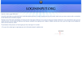 Aol.logininput.org thumbnail