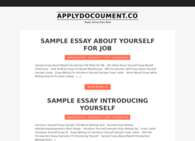 Applydocoument.co thumbnail