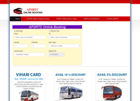 Apsrtconlinebooking.co.in thumbnail