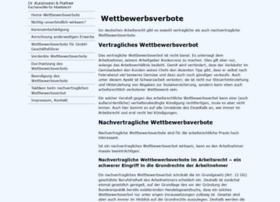 Arbeitsrecht-wettbewerbsverbot.de thumbnail