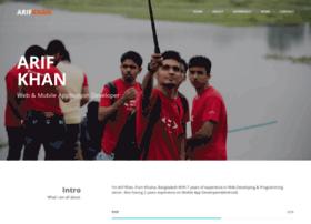 Arif-khan.net thumbnail