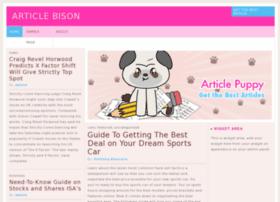 Articlebison.com thumbnail