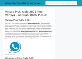 Asanyukle Biz At Wi Vatsap Plus Yukle 2021 Yeni Verisya Antiban 100 Pulsuz