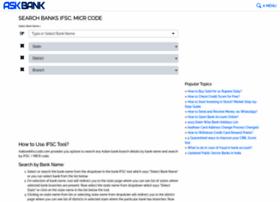 Askbankifsccode.com thumbnail