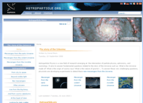 Astroparticle.org thumbnail