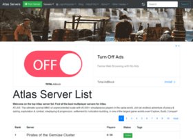 Atlas Servers Io At Wi Atlas Server List Atlas Multiplayer Servers