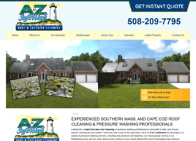 Atozroofclean Com At Wi A To Z Softwash Cape Cod Pressure Washing Company