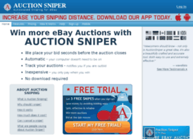 Auction Sentry Com At Wi Auction Sniper Ebay Sniper And Ebay Bidding Snipe Bid Sniping For