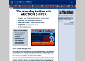 Auctionsniper Com At Wi Auction Sniper Ebay Sniper And Ebay Bidding Snipe Bid Sniping For