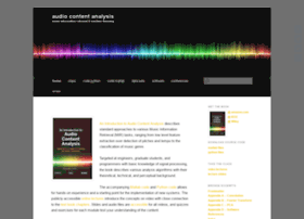 Audiocontentanalysis.org thumbnail