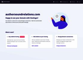 Authorsoundrelations.com thumbnail