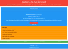 Autocomment.info thumbnail