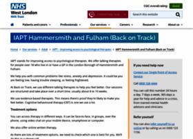 Backontrack.nhs.uk thumbnail