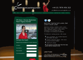 Badmintoncoachinglondon.co.uk thumbnail