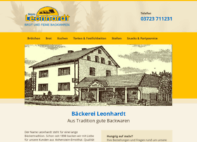Baeckerei-leonhardt.de thumbnail