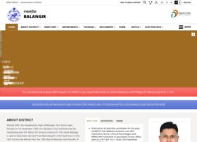Balangir.nic.in thumbnail