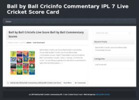 Ballbyballcricinfo.info thumbnail