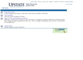 Bannerweb.upstate.edu thumbnail