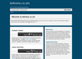 Behrens.co.zm thumbnail