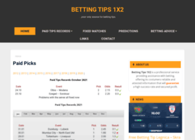 Bettingtips1x2.info thumbnail