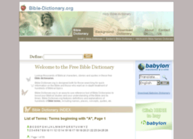 Bible-dictionary.org thumbnail